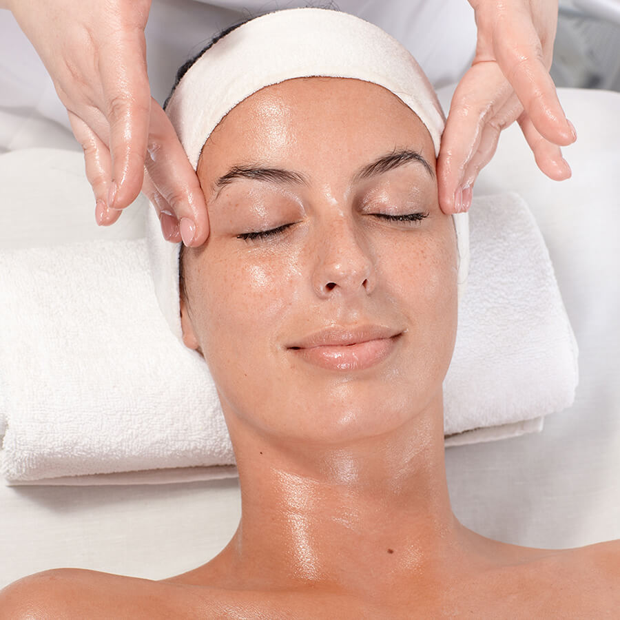 SkinMedica all in one treatment on a woman's face
