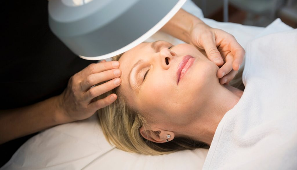 Facial Massage for older woman