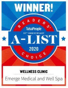 Readers' Choice A List 2020 TulsaPeople Wellness Clinic