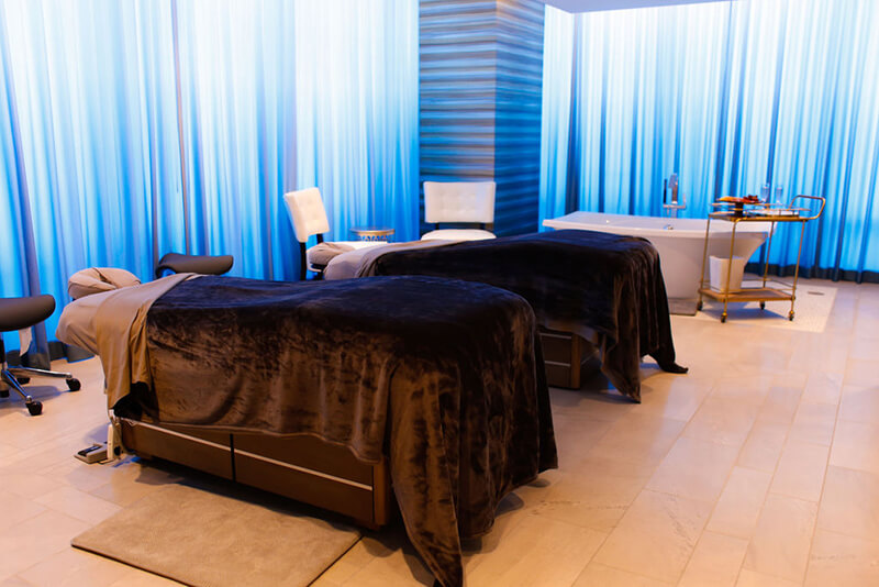 Emerge River Spirit massage tables in a row