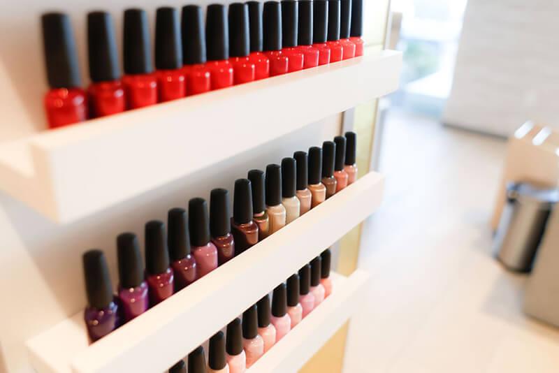 Emerge River Spirit rack of nail polish